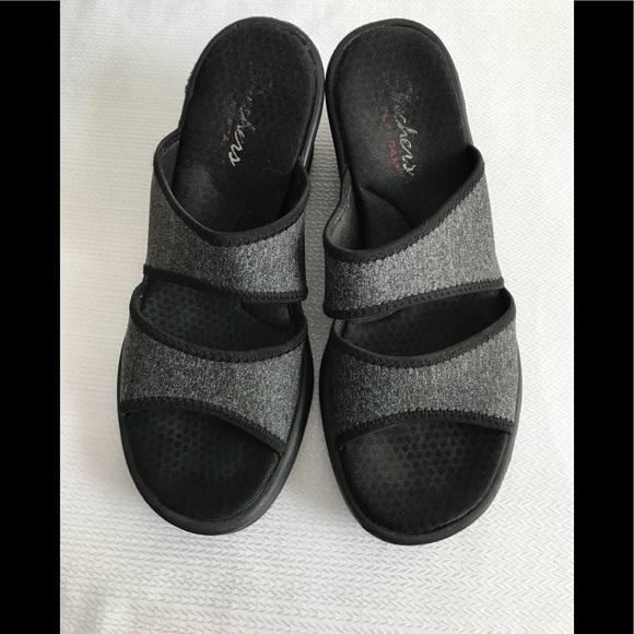 Skechers Rumblers Heathering Heights Wedge Sandals